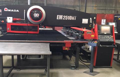 Amada EM-2510 NT CNC TURRET PUNCH - Fabricating Machinery Inc