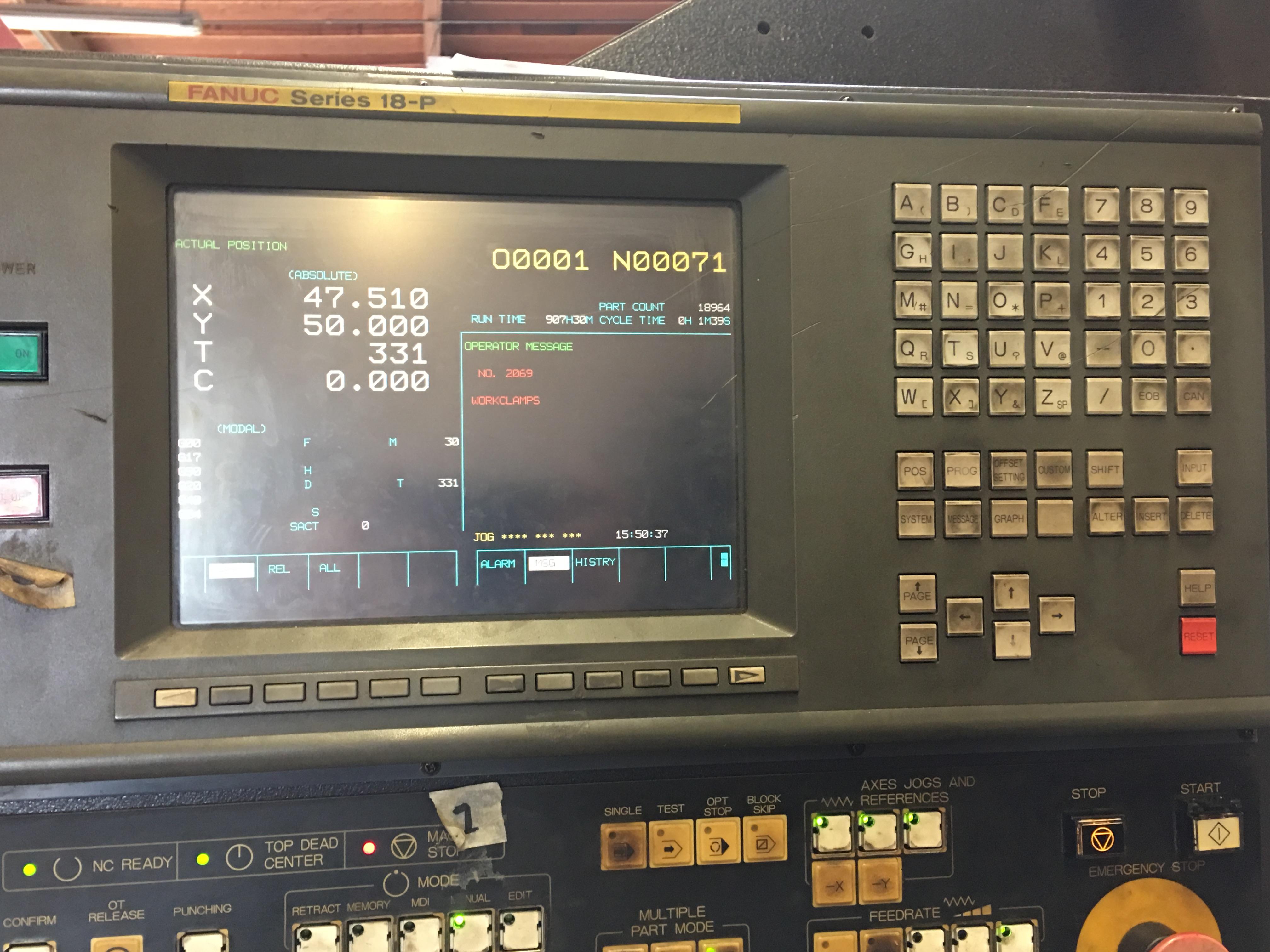 Amada Vipros 255 Turret Punch - Fabricating Machinery Inc