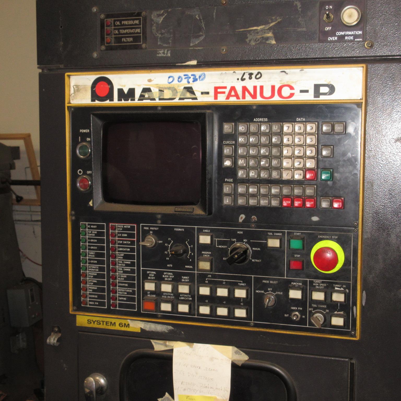 Amada 244 CNC Turret Press - Fabricating Machinery Inc